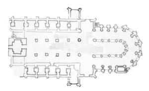 Figuur d Het mislukte plan met het basilicale schip